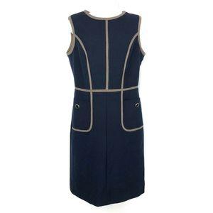 Tory Burch Flora Sleeveless Sheath Dress Blue Sz 6